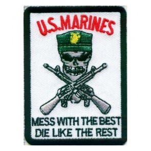 Marines Mess With The Best Rectangle Patch, Military Patches
