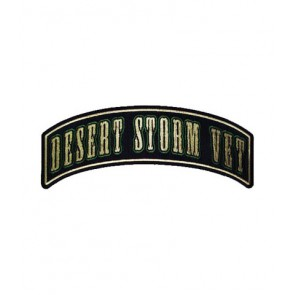 Desert Storm Vet Green Rocker Patch, Military Patches