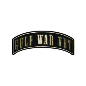 Gulf War Vet Green Rocker Patch, Military Patches