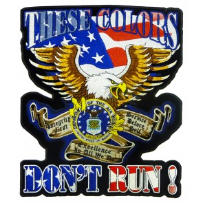 These Colors Don't Run Air Force Patch, Military Back Patches
