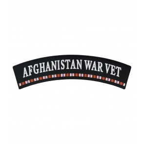 Afghanistan War Vet Service Ribbon Rocker Patches