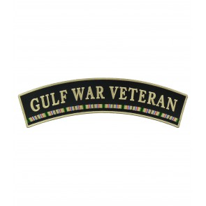 Gulf War Veteran Service Ribbon Rocker Patches