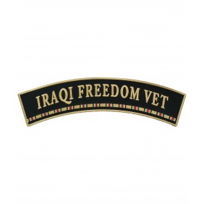 Iraqi Freedom Vet Service Ribbon Rocker Patches