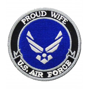 U.S. Air Force Proud Wife Patch, Military Patches