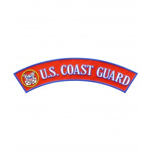 U.S. Coast Guard Logo Rocker Patch, Military Patches
