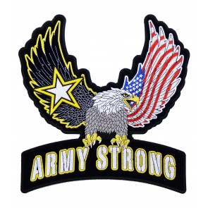 American Eagle & Army Strong Rocker Patch, Back Patches