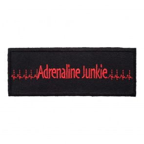 Adrenaline Junkie Red & Black Heart-Rate Lines Patch