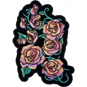 Pink Roses & Skulls Back Patches