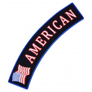 American U.S. Flag Rocker Patch, Patriotic Rocker Patches
