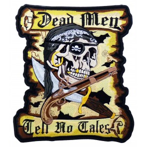 Dead Men Tell No Tales Pirate Patch, Pirate Back Patches