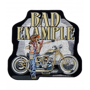 Bad Example Punk Rocker Skeleton Patch, Biker Patches