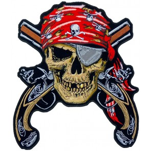 Pirate Skull & Guns Patch, Pirate Back Patches