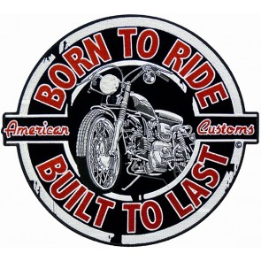 Born To Ride Vintage Motorcycle Patch, Biker Back Patches