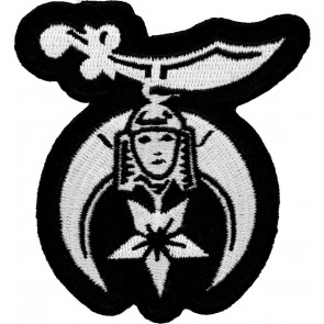 Shriners Symbol Black & White Patch