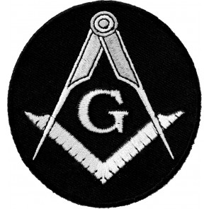 Freemasons Grey Emblem Oval Patch
