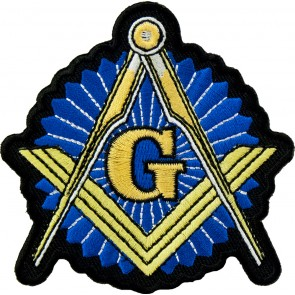 Freemasons Blue & Gold Emblem Patch