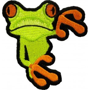 Peeking Tree Frog Patch, Frog & Animal Patches