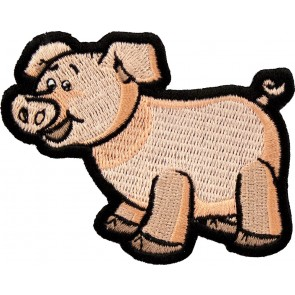 Cute Light Pink Pig Patch, Pig Patches