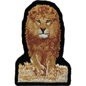 Lion Walking In The Grass Patch, Wildcat & Lion Patches