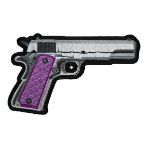Handgun With Pink Grips Right Patch