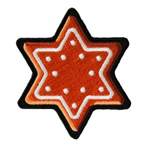Gingerbread Cookie Six Pointed Star Patch