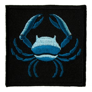 Zodiac Cancer Blue Crab Embroidered Astrology Patch