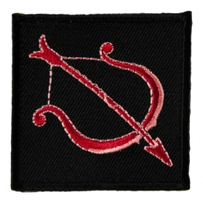 Sagittarius Red Bow & Arrow Embroidered Patch