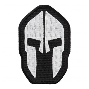 Embroidered Malone Labe Spartan Helmet Patch
