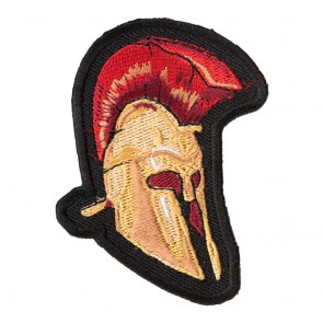 Malone Labe Gold Spartan Helmet Cut-Out Patch
