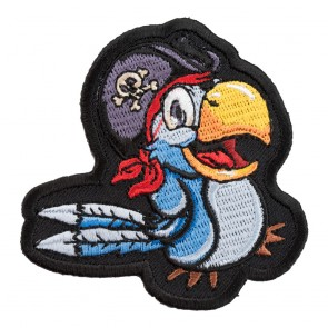 Happy Pirate Bird Blue Parrot Patch