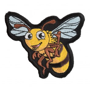 Embroidered Bee Happy Bumblebee Patch