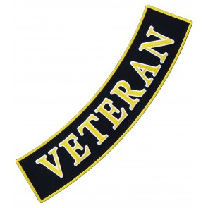Army Veteran Bottom Rocker Patch, Military Patches