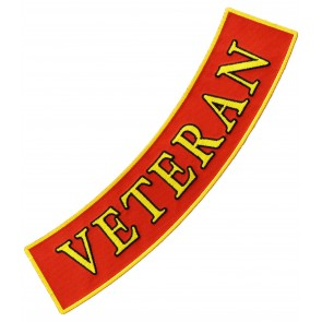 Marines Veteran Bottom Rocker Patch, Military Patches