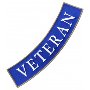 Air Force Veteran Bottom Rocker Patch, Military Patches
