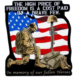High Price of Freedom Soldier Patch, Military Back Patches