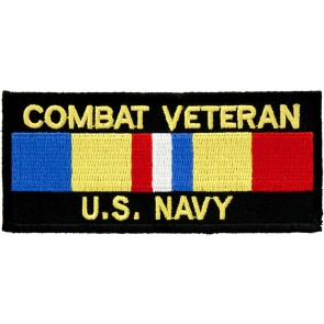 Navy Combat Vet Service Ribbon Patch