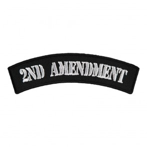 2nd Amendment Black & White Embroidered Rocker Patch