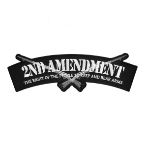 2nd Amendment Embroidered Rifles Sew On Top Rocker Patch