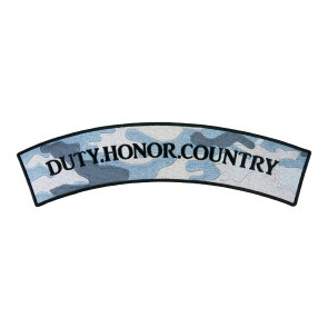 Duty Honor Country Military Rocker Patch
