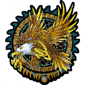 Turquoise Dream Catcher & Bald Eagle Patch
