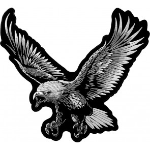 Large Subdued Flying Eagle Back Patch