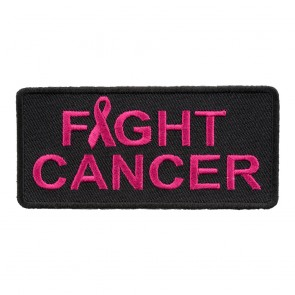 Embroidered Fight Cancer Pink Ribbon Patch