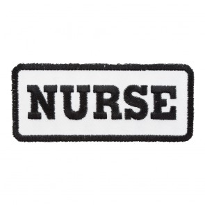 Embroidered Nurse White & Black Patch