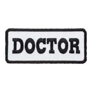 Doctor White & Black iron On Patch