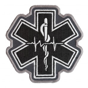 Embroidered Star Of Life Black Pulse Patch