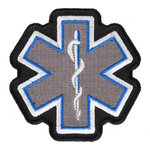 Embroidered Star Of Life Grey Patch