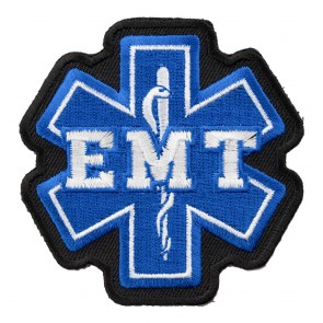 Star Of Life Blue & White EMT Patch