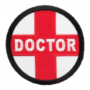 Embroidered Doctor Red Cross Round Patch