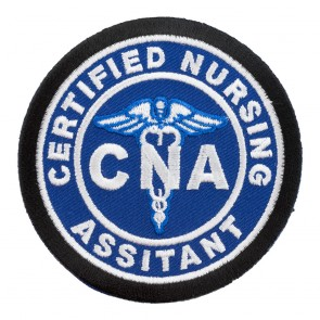 Embroidered Certified Nursing Assistant CNA Blue Patch