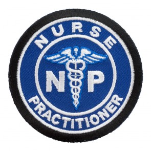 Nurse Practitioner Medical Symbol Blue Iron On Patch